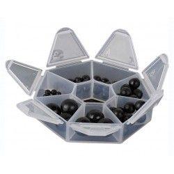 Stopery koralikowe Saenger Spectic Soft Rubber Beads (66szt.)