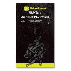 Krętlik z szybkozłączką Ridge Monkey Quick Change Heli Ring Swivel rozm.8 (8szt.)