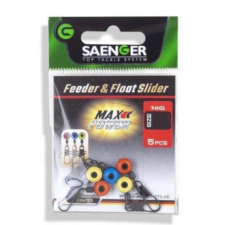 Krętlik z agrafką + adapter Saenger Feeder + Float Slider rozm.M (5szt.)