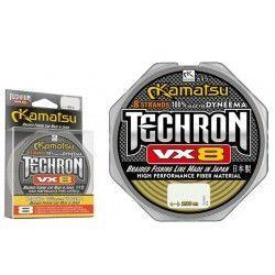 Plecionka Kamatsu Techron VX8 0,10mm/100m, Olive Green