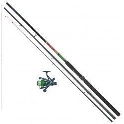 Zestaw wędka + kołowrotek Konger Holiday Feeder - 3,60m 120g, zielony