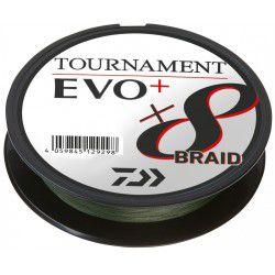 Żyłka Daiwa Tournament X8 Braid EVO+ 135m, ciemnozielony