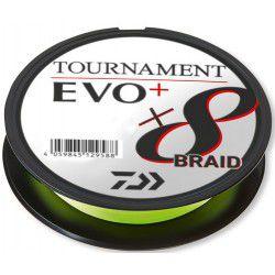 Plecionka Daiwa Tournament X8 Braid EVO+ 135m, chartreuse