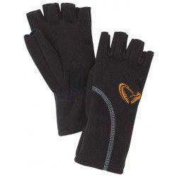 Rękawice Savage Gear Wind Pro Half Finger Black