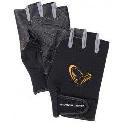 Rękawice Savage Gear Neoprene Half Finger Black