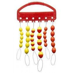 Zestaw silikonowych stoperów, żółto/czerwone rozm. M/L (30 szt.)