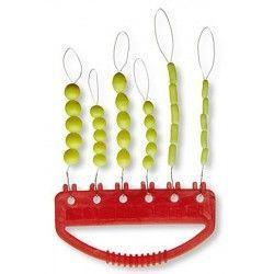 Zestaw silikonowych stoperów, fluo-zielone rozm. M/L (30szt.)