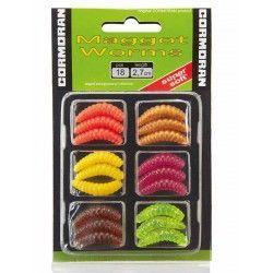 Sztuczne robaki Cormoran Maggot Worms, 2,7cm stonowane kolory (6x3szt.)