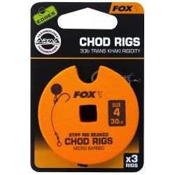 Przypon Fox Chod Rigs Standard 30lb nr. 4 8cm (3szt.)