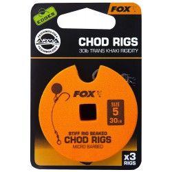 Przypon Fox Chod Rigs Standard 30lb nr. 5 8cm (3szt.)