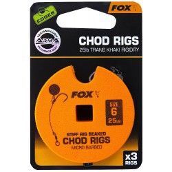 Przypon Fox Chod Rigs Standard 25lb nr. 6 8cm (3szt.)