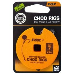 Przypon Fox Chod Rigs Standard 25lb nr. 7 8cm (3szt.)