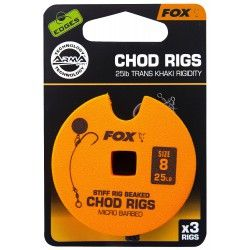 Przypon Fox Chod Rigs Standard 25lb nr. 8 8cm (3szt.)