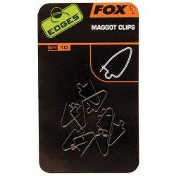 Agrafki do białych robaków Fox Edges Maggot Clips, rozm.8 (15szt.)