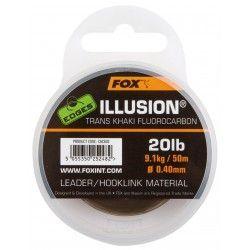Żyłka Fox Edges Illusion Leader 0,40mm/50m fluorocarbonowa