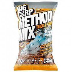 Zanęta Bait-Tech Big Carp Method Mix - Tiger & Peanut (2kg)