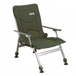 Fotel DAM stalowy rozkłądanay z podłokietnikami