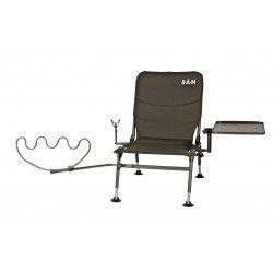 Fotel z uchwytem na wędki DAM Feederchair Complete