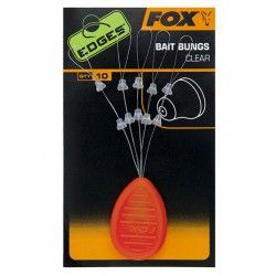Stopery Fox Edges Bait Bungs Clear (10szt.)