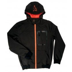 Softshell Fox Black/Orange Hoody, rozm.S
