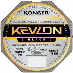 Plecionka Konger Kevlon X4 0,06mm/150m - Black