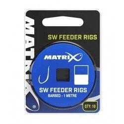 Przypon Matrix SW Feeder Rigs Barbed rozm.10 0,165mm/1m (10szt.)