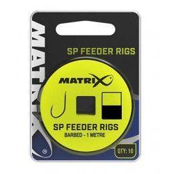 Przypon Matrix SW Feeder Rigs Barbed rozm.10 0,145mm/1m (10szt.)