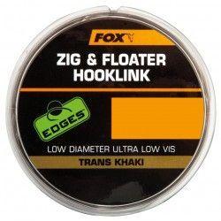 Materiał przyponowy Fox Edges Zig & Floater Hooklink Trans Khaki 10lb, 0,26mm/100m