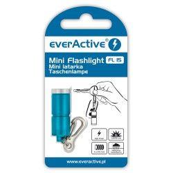 Mini latarka EverAcitve 15lm - niebieski