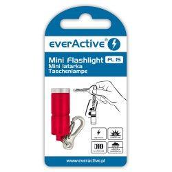 Mini latarka EverAcitve 15lm - czerwony