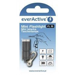 Mini latarka EverAcitve 15lm - czarny