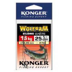 Przypon Konger Wolfram Strong 25cm/15kg (2szt.)