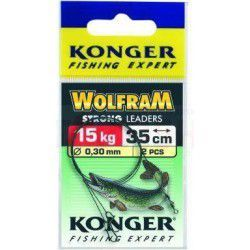 Przypon Konger Wolfrom Strong 35cm/15kg (2szt.)