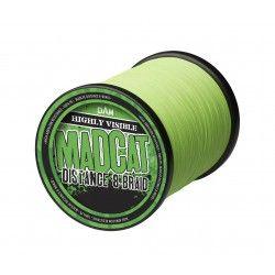 Plecionka DAM Madcat Distance Braid 0,45mm/1210m, żółto-zielona
