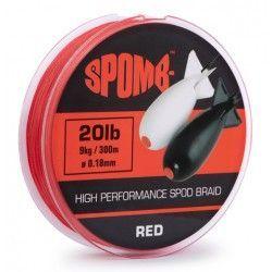 Plecionka Spomb Braid 0,18mm/300m, Red